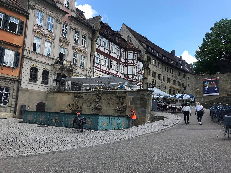 Marktplatz Brunnen in Schwäbisch Hall