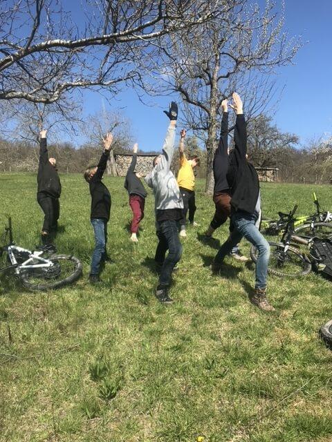 Radtour mit Yoga