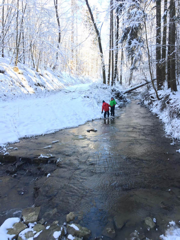 Wanderung im Winter