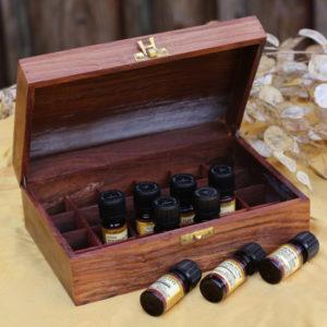 Kiste zur Lagerung von ätherischen Ölen u.ä.