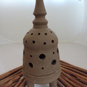 Kerzenhalter braun Ton 2 teilig